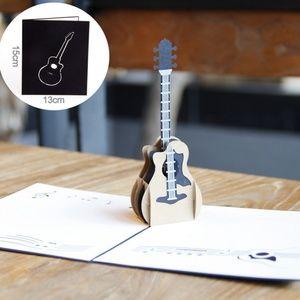 3D Guitar Pop-Up Greeting Card, Nerdy, Laser Cut